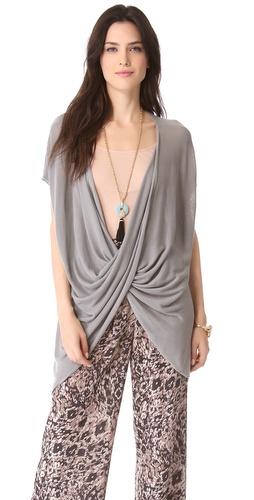 Rachel Zoe Barry Reversible Drape Sweater