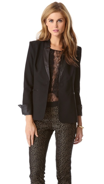 Rachel Zoe Finn Notch Collar Blazer