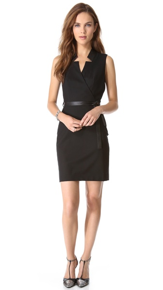 Rachel Zoe Charles Reverse Collar Dress