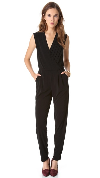 Rachel Zoe Claudia Pleated Jumpsuit