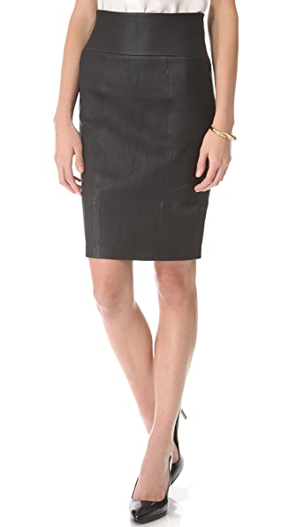 Rachel Zoe Brie Leather Pencil Skirt