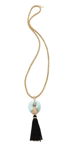 Rachel Zoe Amazonite Tassel Necklace