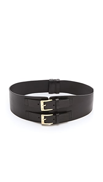Rachel Zoe Signature Double Buckle Waist Belt