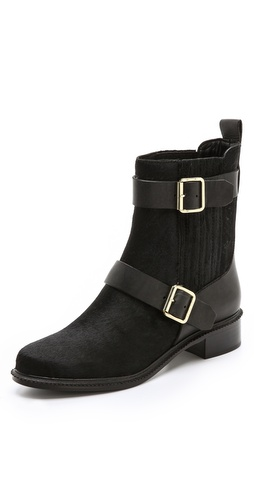 Rachel Zoe Terri Flat Haircalf Booties at Shopbop / East Dane
