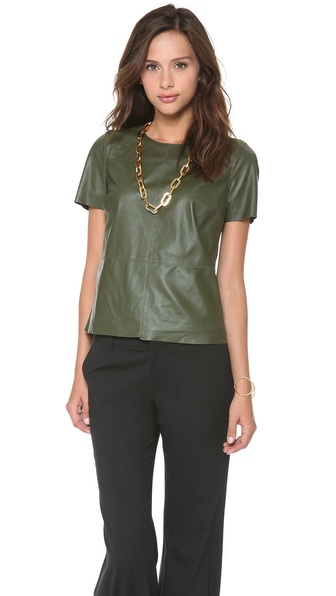 Rachel Zoe Janette Leather Blouse