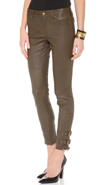 Rachel Zoe Suzie Belted Leather Pants