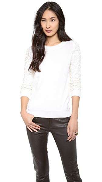 Rachel Zoe Presley Sequin Sleeve Sweater