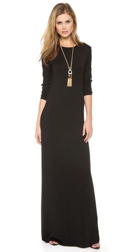 Rachel Zoe Vincent Skinny Jersey Maxi Dress