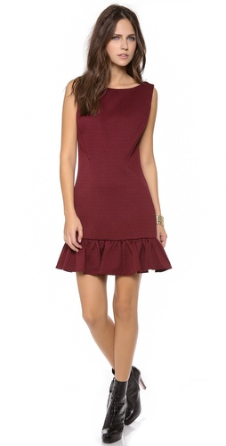 Rachel Zoe Aurora Seamed Ruffle Dress