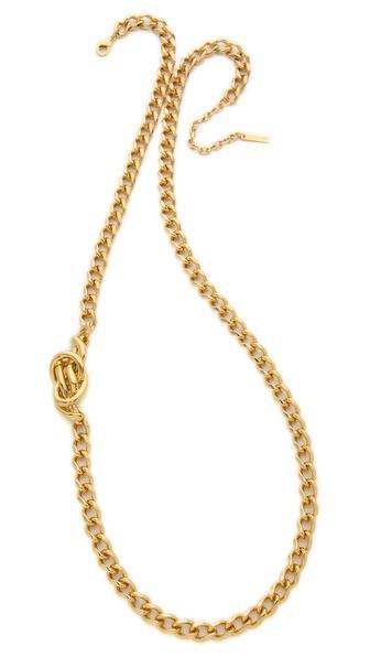 Rachel Zoe Love Me Knot Long Single Knot Necklace
