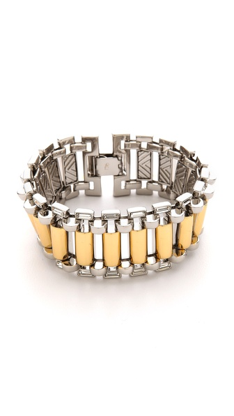 Rachel Zoe Two Tone Narrow Watchband Bracelet