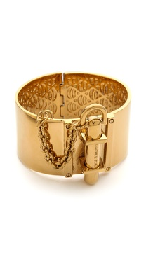 Rachel Zoe Wide Signature Hinge Bangle