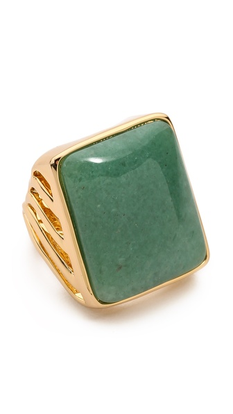 Rachel Zoe Safari Rectangle Ring