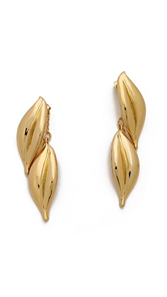 Rachel Zoe Safari Double Leaf Drop Earrings
