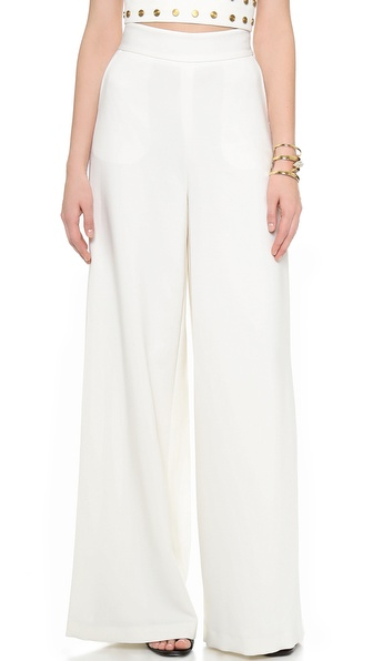 Rachel Zoe Smith High Waisted Pants - Soft White