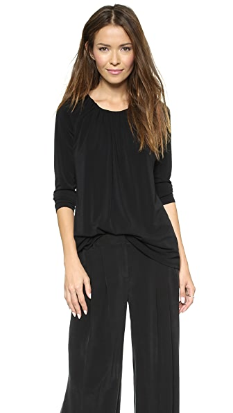 Rachel Zoe Alix Gathered Neck Top