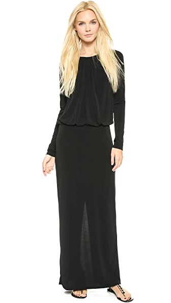 Rachel Zoe Gathered Neck Maxi Dress
