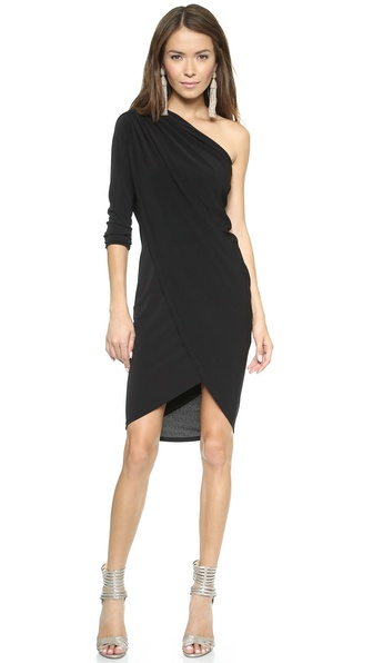 Rachel Zoe One Sleeve Draped Dress