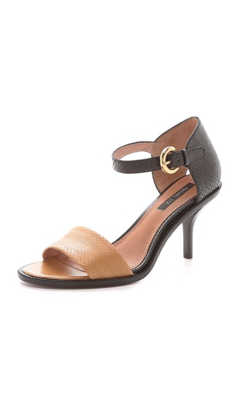 Kupi Rachel Zoe cipele online i raspordaja za kupiti Simply styled Rachel Zoe sandals rendered in colorblocked snakeskin. A brushed buckle secures the ankle strap. Stacked heel and leather sole. Leather: Snakeskin. Imported, China. This item cannot be gift boxed. Measurements Heel: 3in / 75mm THIS ITEM CANNOT BE SHIPPED OUTSIDE THE USA. Available sizes: 5.5,6,6.5,7,7.5,8,8.5,9,9.5,10