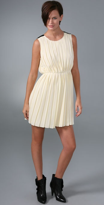 Rag & Bone Raw Edge Pleat Dress