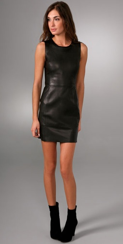 Rag & Bone Raw Edge Leather Dress