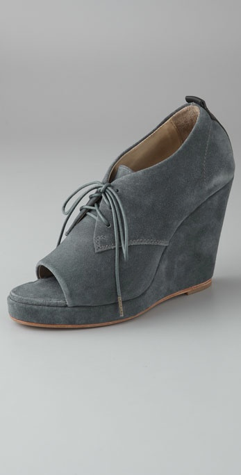 Rag & Bone Sahara Suede Oxford Wedges