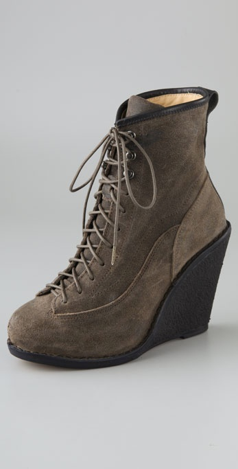 Rag & Bone Combat Wedge Booties