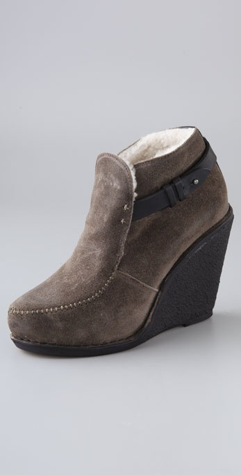 Rag & Bone Sukh Suede Wedge Booties