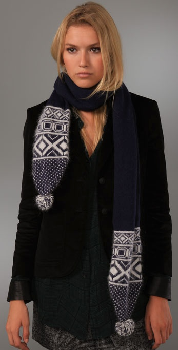 Rag & Bone Grayling Fair Isle Scarf
