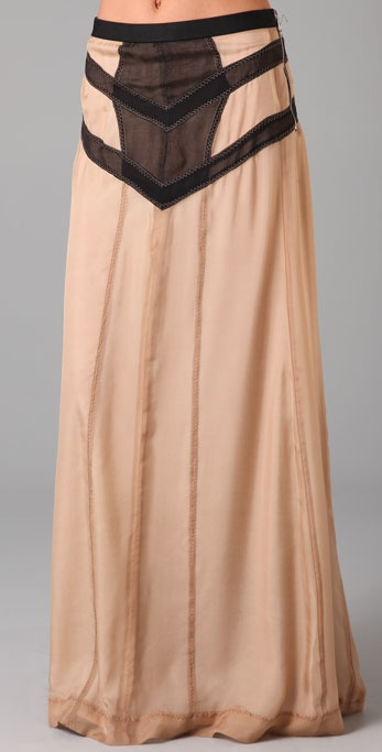 Rag & Bone Lafone Long Skirt with Corset Detail