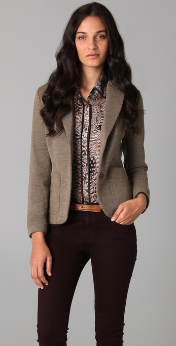 Rag & Bone Knit Strand Jacket with Elbow Patches