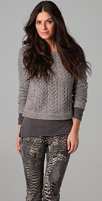 Rag & Bone Montgomery Crop Sweater