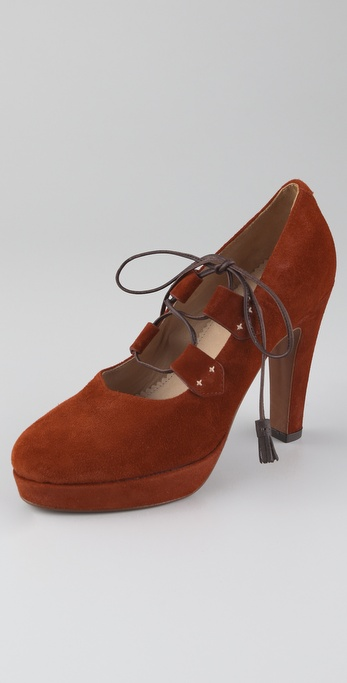 Rag & Bone Bailey Suede Platform Pumps