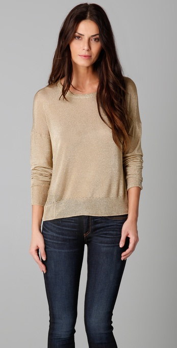 Rag & Bone Gansevoort Metallic Sweater
