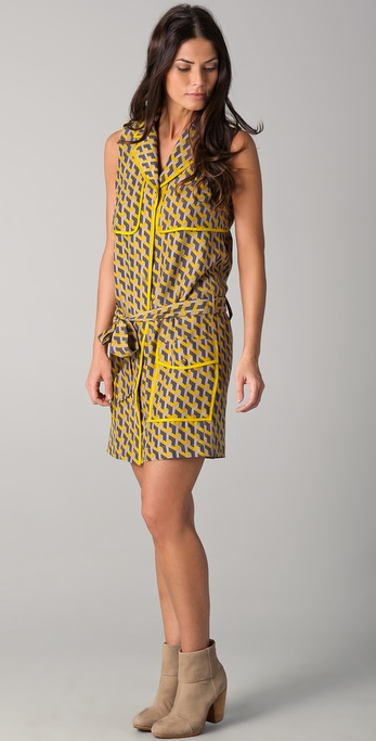 Rag & Bone Nimue Geo Print Trench Dress