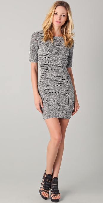 Rag & Bone Hart Knit Dress with Cutout Back