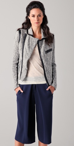 Rag & Bone Hart Knit Biker Jacket