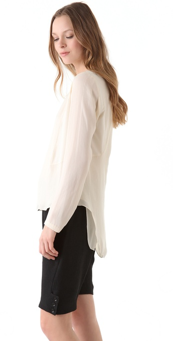 Rag & Bone Iris Shirttail Hem Top