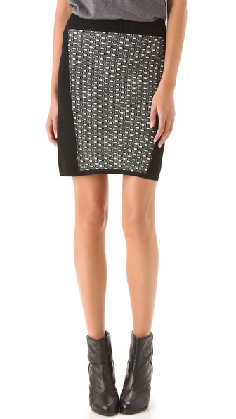 Rag & Bone Datia Knit Panel Skirt