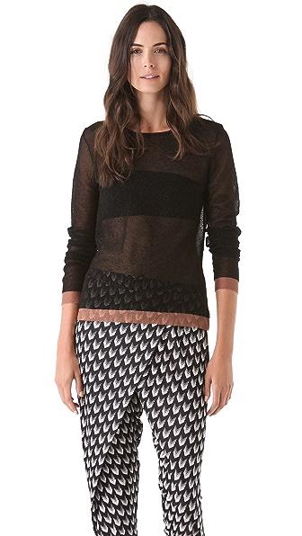 Rag & Bone Raelle Sheer Sweater