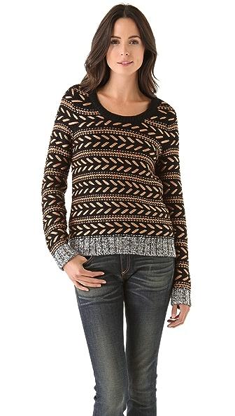 Rag & Bone Lisbeth Metallic Sweater