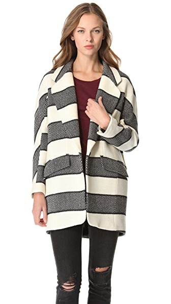 Rag & Bone Striped Egg Coat