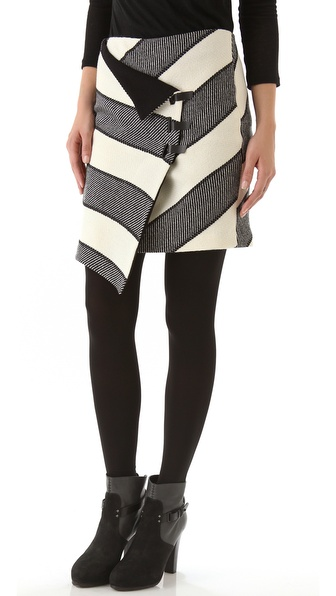 Rag & Bone Tani Stripe Skirt