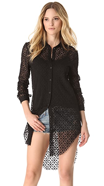 Rag & Bone Print Nightingale Blouse