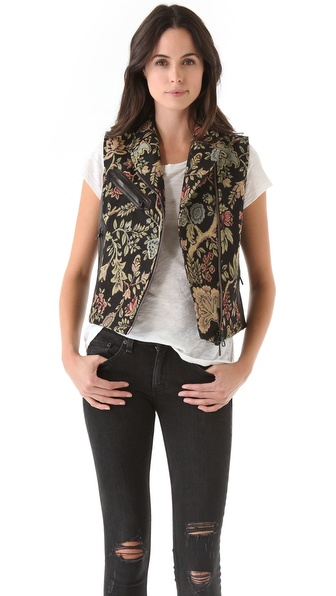 Rag & Bone Tapestry Mughal Moto Vest