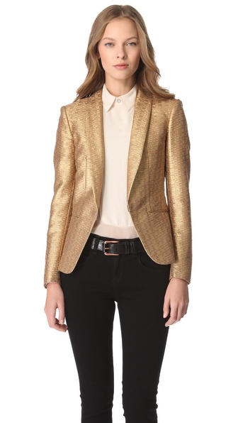 Rag & Bone Sliver Metallic Tuxedo Jacket