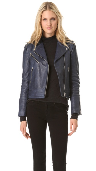 Rag & Bone Bowery Leather Moto Jacket