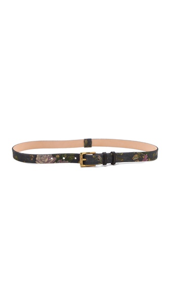 Rag & Bone Floral Skinny Belt