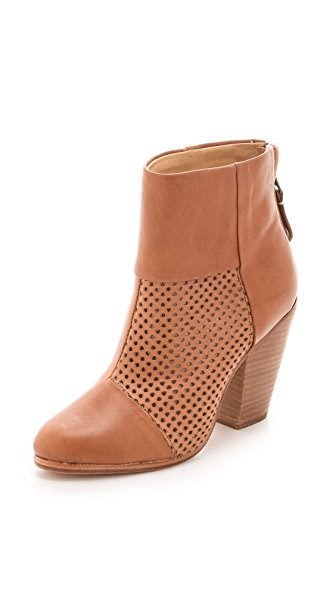 Rag & Bone Classic Newbury Booties with Perforated Panel