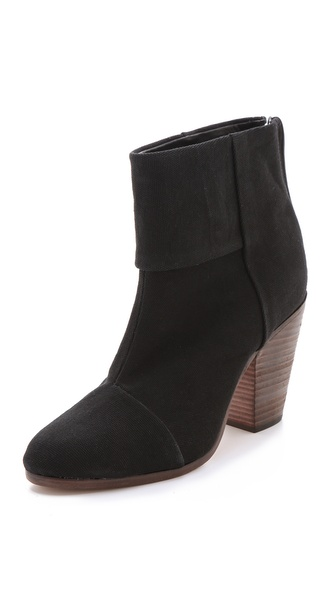 Rag & Bone Classic Newbury Booties in Canvas from shopbop.com